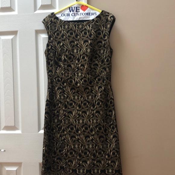 Ralph Lauren Dresses & Skirts - Ralph Lauren Gold Brocade Dress Size 8